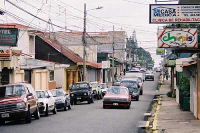 Streets of Alajuela, Costa Rica