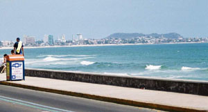 Mazatlan along the water