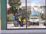 Image in McDonald's window, eastern France