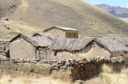 Farm buildings in the Andes