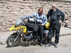 Daniel Todd, on his second trip around the world, and me in Cusco