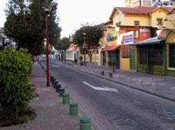 Quiet Quito street in early morning
