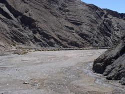The road to Tupiza is in the riverbed for about 10 miles around the village of Atocha