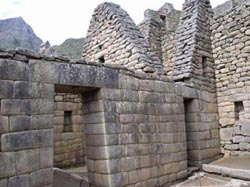 Stonework on the Inca residence at Machu Picchu