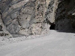 One of the many tunnels on the road to Caraz