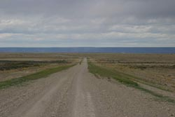 The featuerless landscape of Ruta 40, north of Tres Lagos, western Patagonia, Argentina