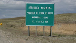 Crossing back into Argentina on Tierra del Fuego