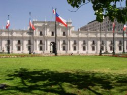 Presidential Palace in Santiago, Chile